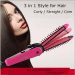Quality NHC-8890 3 in 1 Hair Straightener Hair Stick Hair Curler Hair Clipper for sale