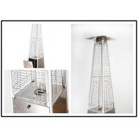 Quality Tall Quartz Glass Tube Patio Heater , Powder Coated / Stainless Steel Gas Patio Heater for sale