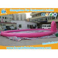 China Pink Inflatable Football Field 15 * 10 M , Inflatable Race Track For Land Zorb Balls on sale
