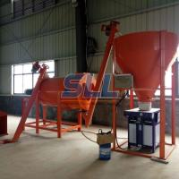 China Sand Powder Double Paddle Spiral Dry Mortar Mixer With Double Ribbon Blender on sale