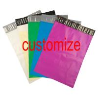 China Custom Logo Print Poly Mailer Colored Courier Express Bags PE Material Self Sealing on sale