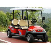Red Color 4 Seater Golf Cart Electric Car , Electric Street Legal Vehicles