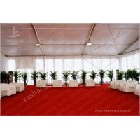Outdoor Aluminum Structure White Event Tents With Double Wing Glass Door