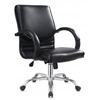 Quality Cool Ergonomic PU Leather Office Chair For Employee Chrome R350 FOOT for sale