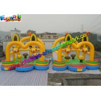 Quality Cat Inflatable Commercial Bouncy Castles / Inflatable Jumping House Waterproof for sale