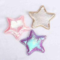Quality Assorted Colors Applique Crafts Shiny Satin Fabric Star Patches For Hair Accessories for sale