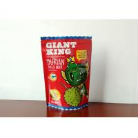 Quality Zipper Top Food Grade Packaging Bags , Durian Crispy Crackers Custom Snack Bags for sale