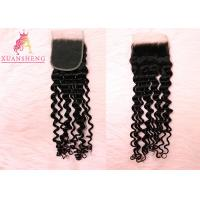 Quality Deep Wave Brazilian Human Hair 4x4 Lace Closure for sale
