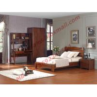 Classic Design Solid Wood Material for Single Bedroom Furniture Set