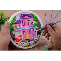 Buy Educational Kids Arts And Crafts Toys Miraculous 3D Gypsum Clock Painting Set at wholesale prices