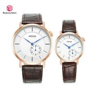 Buy cheap Christmas Gift Fashion Brown Wrist Watch Japanese Quartz Movement For Lover from wholesalers