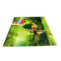 Buy cheap Parrot Pattern Green Plastic Commercial Ceiling Panels No Cracking from Wholesalers