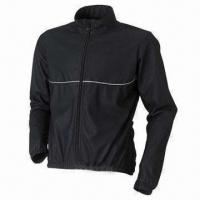 Quality Bicycle jacket with EN471 reflective piping for sale