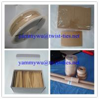 Quality kraft paper twist ties for garden for sale
