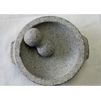 Quality Food Safe Stone Mortar And Pestle Molcajete Guacamole With Handles for sale