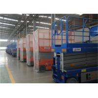 Buy cheap Raised 6m Self Propelled Hydraulic Scissor Lift Control Panels Top Floor from wholesalers