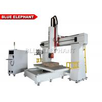 Quality 24KW Five Axis Cnc Milling Machine , Cnc Router Engraver Machine Italy HSD Brand Air Cooling Spindle for sale