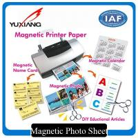 China Inkjet Magnetic Printer Paper , Printable Magnetic Paper Vivid Color Output on sale