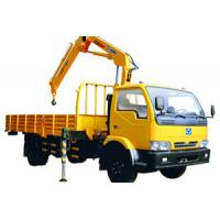 Quality Durable Knuckle Boom Truck Mounted Crane, Wire Rope Raise And Down 3200 kg for sale