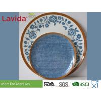 Quality Fresh Contrast Color Melamine Plates And Bowls Anti - Bacteria Safe Contact With Food for sale