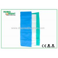 Quality 100% PP Nonwoven Disposable Bed Sheets For Travel Light Blue / White Color for sale