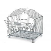 BN6150107 Industrial Wire Containers , Folding Wire Mesh Container 32 X 24 Inch