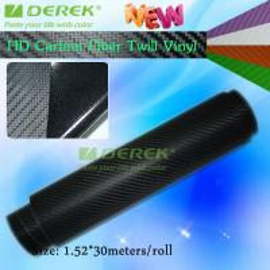 Quality High-definition Carbon Fiber Vinyl Car Wrapping Film - Black for sale