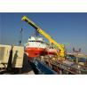 Quality Steel Structure Offshore Pedestal Crane , 30m Pedestal Hydraulic Boom Crane for sale