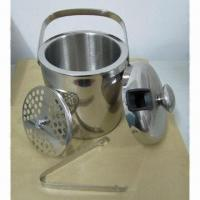 Quality Stainless Steel Ice Bucket with Double Wall Construction and 0.6mm Thickness for sale