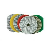 Quality White Pane Wet Diamond Polishing Pads Chemical Stability For Marble / Quartz for sale