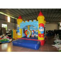 Quality 0.55mm PVC Tarpaulin Inflatable Smurf Jumping Castle House / Mini Baby Bounce House for sale