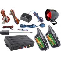 Quality Double Way Alarm LCD Automotive Security Systems , Auto Keyless Entry System Big Sound Siren Alarm for sale