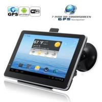 Quality 7 Inch Capacitive Touchscreen Android 4.0 GPS Navigator with Dual Camera for sale