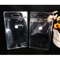 Quality Custom PVC Packing Bag , Clear PVC Pouch Bag With Pouch Button for sale