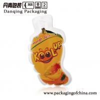 Quality Custom Fruit Shaped Injection Liquid Pouch for Mango Drink Packaging Bag for sale