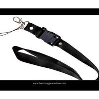 Quality black 20*900mm CMYK Submliamtion polyester lanyard strap with plastic buckle for sale