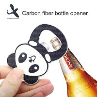 China 2019  New Personalized Panda Carbon Fiber Key Chain bottle opner on sale