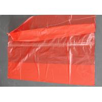 China Plastic Water Soluble Dissolvable Washing Bags / Disposable Laundry Bags Red Color on sale