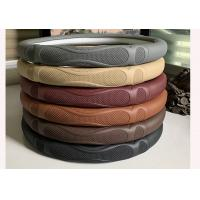 Quality Soft Material Massage Car Steering Wheel Cover / Real Leather Steering Wheel Wrap for sale