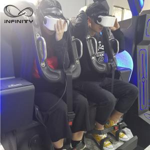 Quality Black / Blue VR Motion Simulator Game Machine Two Seats  VIULUX V8 Glasses for sale