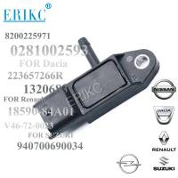 Quality ERIKC car fit 0281002593  Intake Air Manifold Absolute Pressure MAP Sensor 8200225971 for SUZUKI NISSAN RENAULT for sale