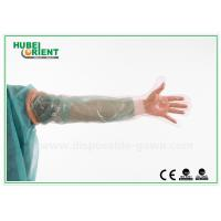 Quality Colorful Long plastic Disposable Arm Sleeves protective Gloves , Veterinary Use for sale