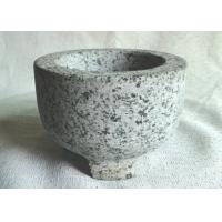 Quality Custom Shape Granite Stone Bowl Outside Honed Finish Non Toxic With 3 Legs for sale