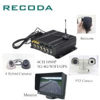 Quality Dual SD Card Car Dvr Camera Recorder , 1080P 4Ch Vehicle Dvr System Free Software for sale