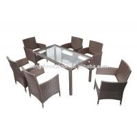 Quality Modern Simple Design Rattan Outdoor Garden Patio Furniture Luxury Restaurant Dining Room Dining Set for sale