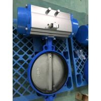 Quality Pneumatic Butterfly Valve , Pneumatic Operated Butterfly Valve By Spring Return Double Acting Actuator for sale