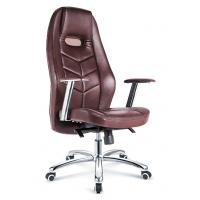 Quality Dark Brown Executive Leather Desk Chair , Modern Leather Rolling Office Chair for sale