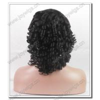 Quality fashion 14 inch 2# colours spring curly short crystal tip 100% mongolia human hair full lace wigs for sale