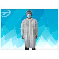 Quality Waterproof Protective Medical Disposable Visitor Coats PE With Different Size for sale