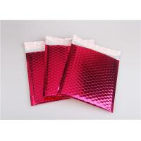 Quality Rose Pink Metallic Mailing Envelopes , Colored Bubble Mailers For Transport for sale